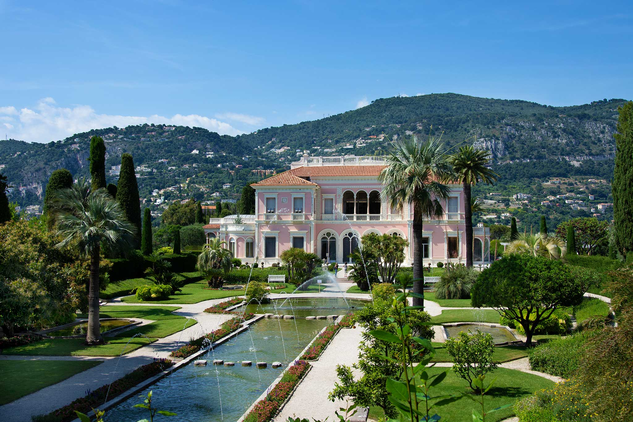 Steve and Carole in Vence - Villa Ephrussi de Rothschild