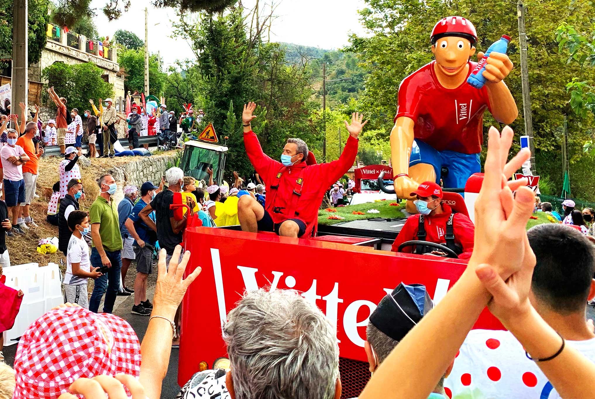 Steve and Carole in Vence - The Tour de France Caravan