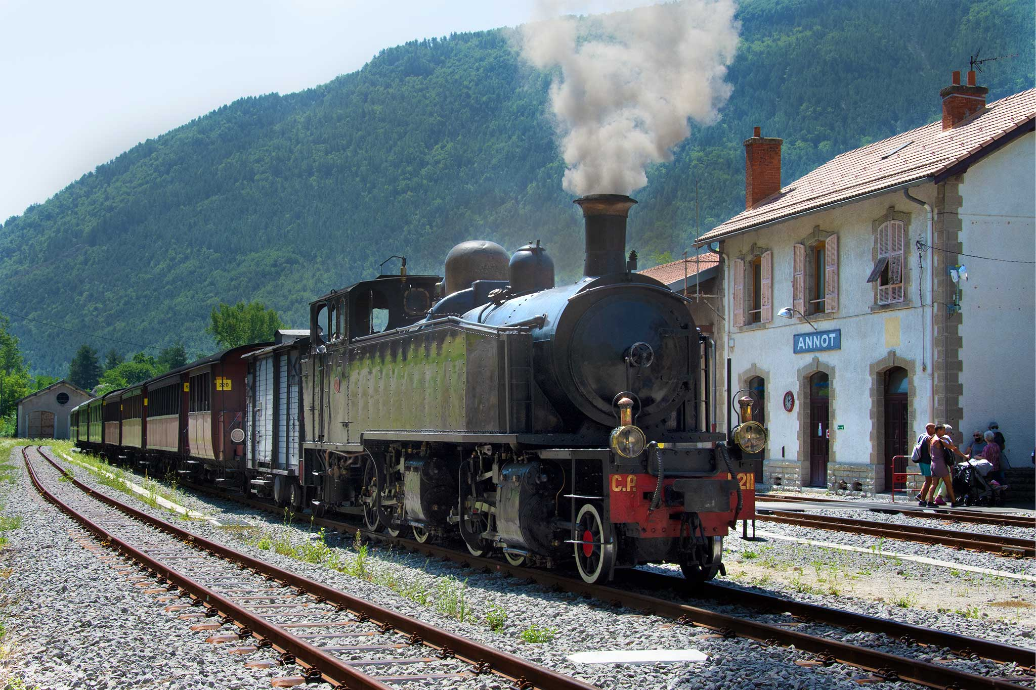 Steve and Carole in Vence - Steam Train to Annot