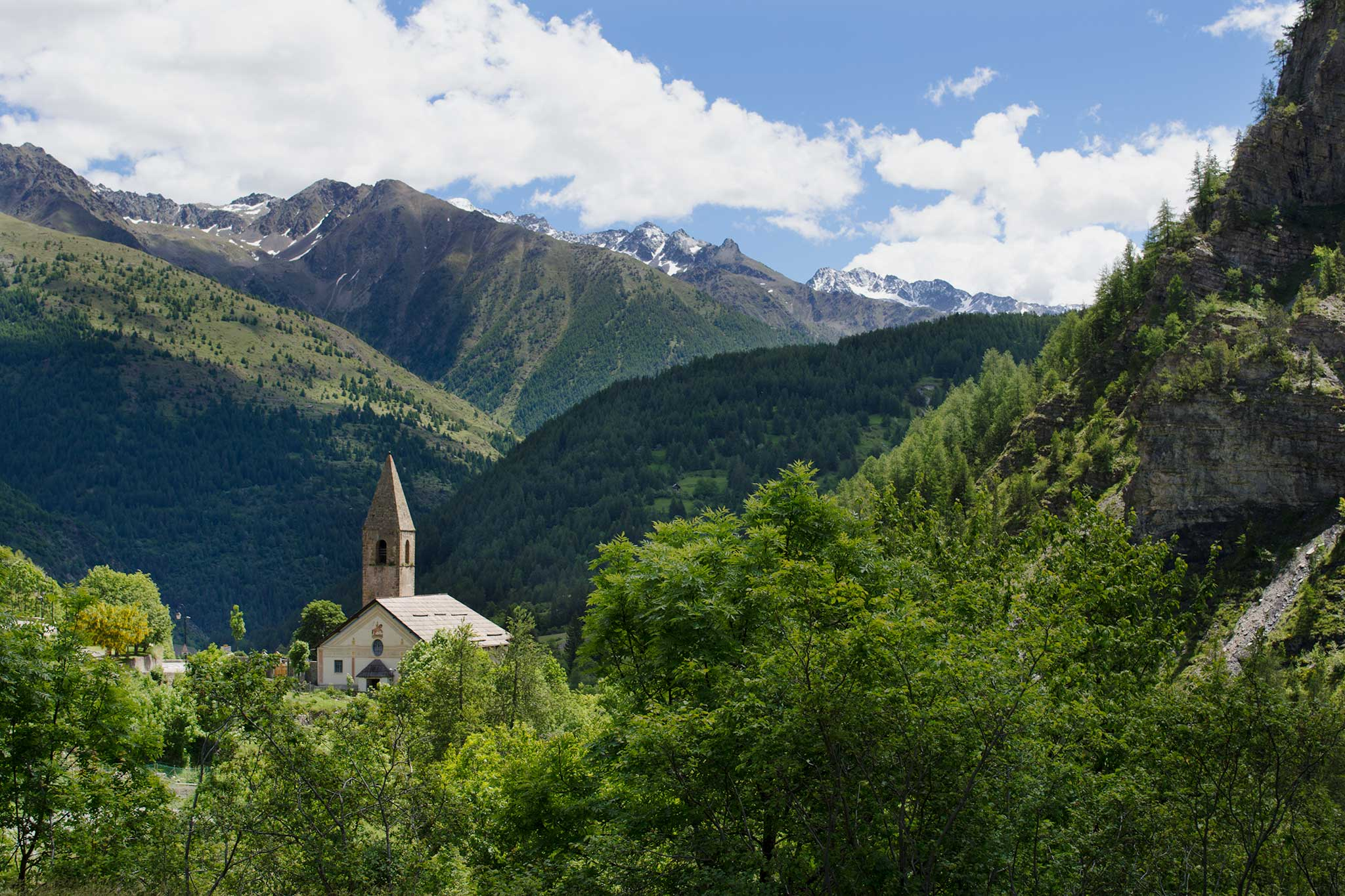 Steve and Carole in Vence - The Tinée Valley - Alpine Forests and Perched Villages